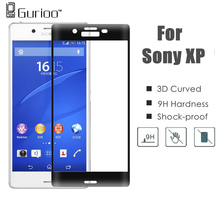 3D Curved Full Cover Colorful Tempered Glass For sony xperia XA X / XP Performance 0.3MM Screen Protector Film High Quantity