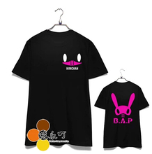 Fashion kpop bap b.a.p memeber name and personal bunny image printing t shirt for babies summer short sleeve o neck t-shirt
