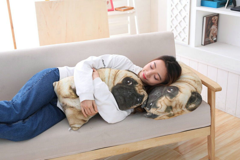 Cute 3D Dog Stuffed Plush Pillow