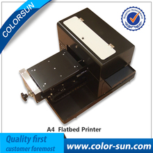 Multifunctional A4 size flatbed printer machine for print for CD /DVD Cards Phone case/T-shirt/Pen/Plastic on hot sales