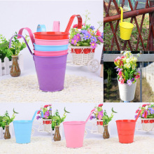 Vertical Garden Planters Bright Colours Metal Flower Pots Hanging Bucket Tool