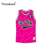 Notorious B.I.G. #97 Bad Boy Pink Yellow Black Green Red with Patch Throwback Movie Basketball Jersey S-4XL Stitched(China)