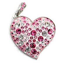 Jewelry Heart Cle USB 2.0 Memory Stick Pen Drive 256GB Pink Pendrive 16GB Memoria USB Flash Drive 128GB 512GB Gift Flash Disk(China)