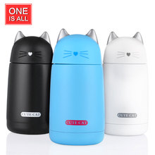 ONEISAL 330ml Cat Thermos Bottle Cup Travel Mug Insulated Cups My Bottle Coffee Mug Drinkware for Kids Water Bottles Thermos Cup(China)
