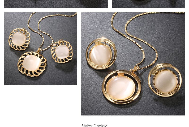 BTSETS Luxury Jewelry Sets Opal Women Dubai Jewelry Sets Round Party Vintage Turkish Jewelry Gold Color Indian Jewellery (2)