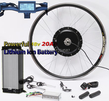 Free shipping 50KM/H newest system 48v 1000w electric bike conversion kit with 48V 20AH lithium battery pack(China)