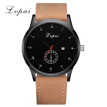 Lvpai New Brand Men Luxury Business Watch Fashion Casual Leather Quartz Wristwatch Calendar Sport Dress Gift Relogio Watch LP176(China)