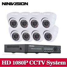 8CH AHD-NH 2.0MP HD 1080P security dome camera CCTV System Kit 8 Channel Video Surveillance 1080P DVR NVR system usb 3g wifi P2P