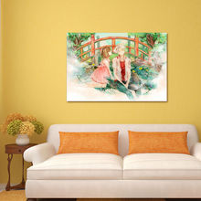 modular painting   Hotarubi no Mori e  digital paint by numbers  diy digital painting  Japan Style cartoon poster