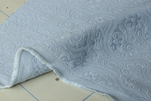 3D Jacquard Vintage Gray Blue Thick Sofa Upholstery Material