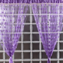 2017 Hot Sale 4 Color Bathroom Products Cute Heart Line Tassel String Door Curtain Window Room Curtain Valance D45JL25(China)