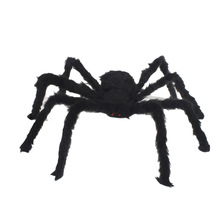 New 30cm Black Spider Halloween Decoration Novelty Gag Toys Haunted House Prop Indoor Outdoor Wide NEW Practical Jokes(China)
