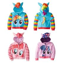 2017 New My little pony Children Girls Jackets Children Outerwear Kids Sweater Cartoon Hoodies Girls Clothing Brand (90-150)