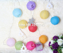Free Shipping12pcs 7.5cm (3inches) Chinese round small silk lantern wedding decoration birthday party decoration kids
