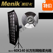 professional photography portable rectangle gird softbox Grid ss-9 rectangle softbox 40x140cm studio photo lighting CD50(China)