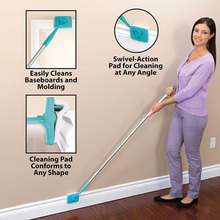 New Arrivals Magic Broom Baseboard Buddy Simply Glide Extendable Cleaning Mop Tool Microfiber Dust Brush Trash Stick Vassoura