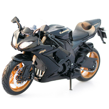 1/12 Kawasaki Ninja ZX-10R Diecast Motorcycle Model Black and Golden Motorcylce Model Kids Gift Collection