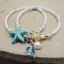 Dayoff 2018 Barefoot Sandals Boho Beach Bohemian Conch Bead Anklet Hippie Ankle Bracelet Handmade Wedding Party Jewelry B90(China)