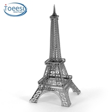 Toeesi Metal Diy Building Assembled Model 3D Nano Stereo Puzzle Paris Eiffel Tower PU049