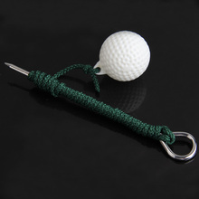 High Quality Golf Practice Balls Outdoor Sports Golf Balls Plastic Training Balls with Steel Rope Golf Club Accessaries(China)