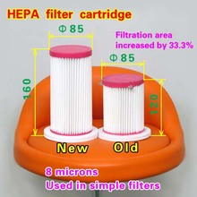 HEPA filter cartridge 85*160 (Used in simple filters ) 16 pieces(China)