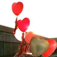 "20pcs 36"" Big Heart giant balloons wedding decorations Helium Inflable Large love latex balloon Valentine day gift Party supply"
