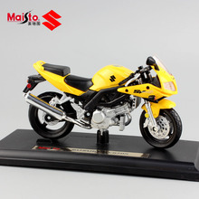 1/18 scale Children miniaturas SUZUKI SV650S bike metal diecast motorcycle moto bike model auto collectible gifts Toys for boys