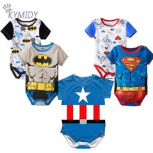 Heroes Logo Cotton Baby Bodysuits Superman Infant Newborn Romper Short Sleeve Baby Clothes for Girls Boys Clothing 2017