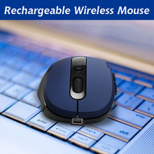 Rechargeable Wireless mouse Optical Gaming silent click Mouse For Laptop PC Computer Optical Mouse Computer Mice ergonomic mouse(China)