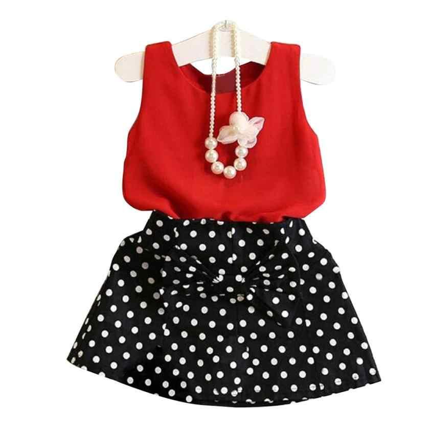 b86246c01 2 unids piezas bebé niño niña vestido chaleco + falda traje plisado niño  ropa princesa vestido