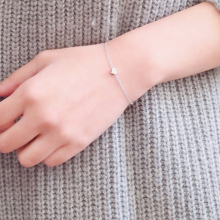 New Fashion Silver Plated Heart Bracelet Delicate Simple Silver Chain Bracelet, Valentine's Day Gift For Her SH055(China)
