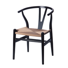 contemporary and contracted solid wood dining chair Hans wegner replica wishbone Y stoll minimalist modern beech wood chair 2PC