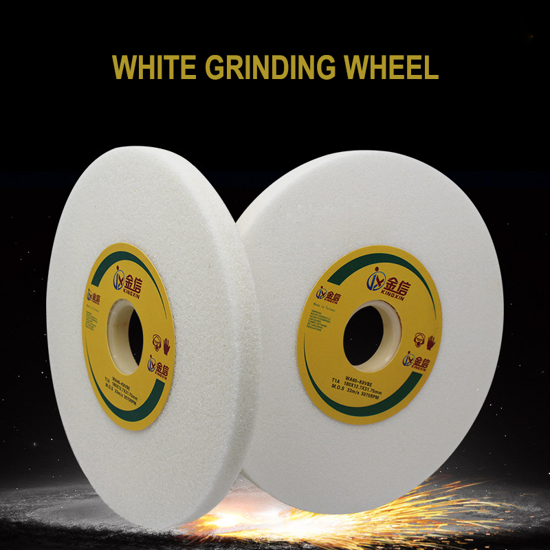 White Grinding Wheel for Surface Grinding Machine M618 White Alundum Grinding Wheel Size 180*12.7*31.75<br>