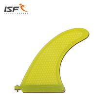 "Yellow Longboard 8"" Surfboard Center fins quilhas de prancha de Surf Fin Paddle Board Fins With Honeycomb(China)"