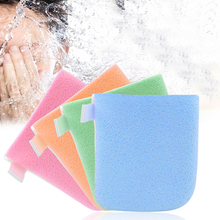 8Pcs/lot Hot Sale Double Side Face Wash Pad Makeup Cleaner Sponge Puff Exfoliator Glove Face Cleaning Skin Care Tools Random