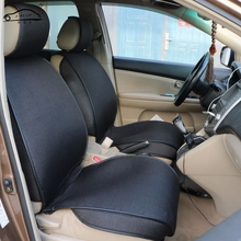 1 pc universal Artificial linen Covers for car seats/3-D bracketing Front car seat covers For Kia Rio Lada Hyundai Solaris(China)