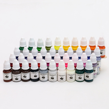 High Quality Set Of 40 Colors Tattoo Ink 1/4OZ Pigment 8ML/Bottle For Tattoo Kits Gun Grips Beauty Tattoo Supply(China)