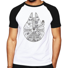 2016 Mens Cool starwars Skateboards T Shirt Good Quality Cotton star wars T Shirt Fashion machinery cat image Tshirt hot(China)