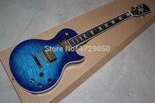 Free shopping factory custom les Top Quality Mahogany Body,blue burst finished LP paul Electric Guitar
