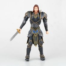 2017 New Sir Anduin Lother Stormwind City Royal Guard Action Figures For WOW DC Direct Sealed Classic Scene Toys