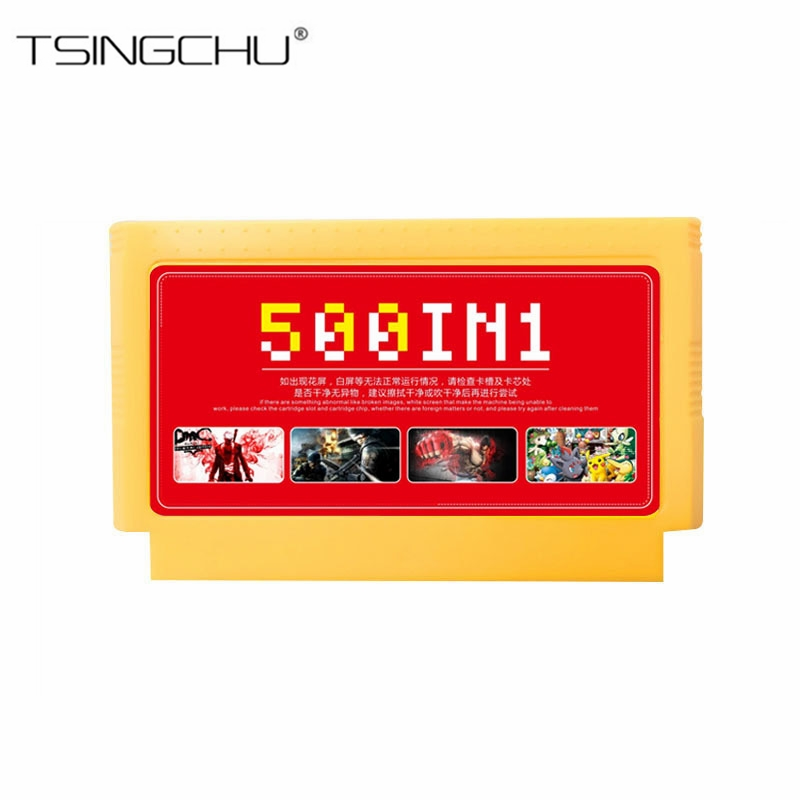 500 in 1 Family Game Memory Card For Video TV Console 8 Bit 60 Pins Game Card Classic Games Collection For Handheld Game Players(China)