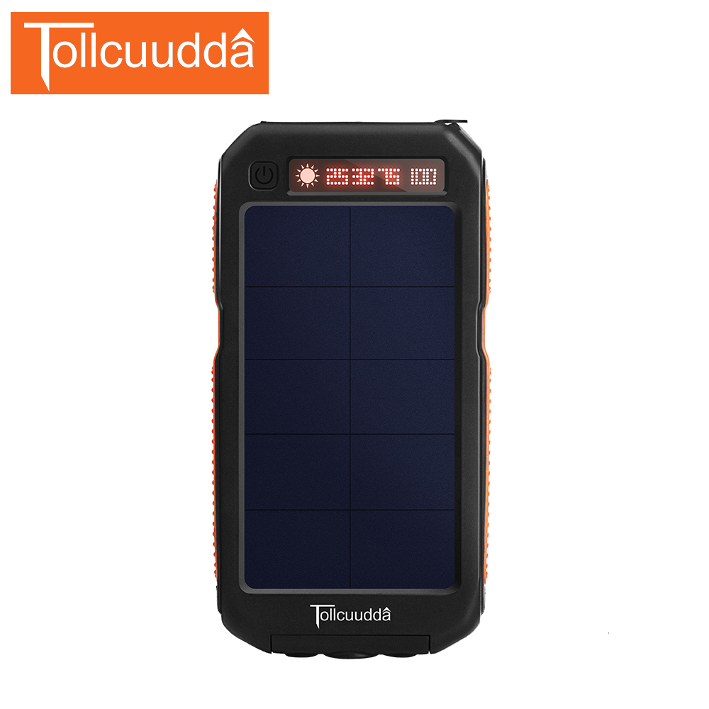 TOLLCUUDDA Outdoor Power Bank 10000mAh Portable So...