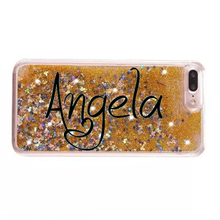 for iphone 7 6g 6s plus 5c 5g 5s se 4g 4s sand liquid glitter phone case customized cell cover for iphone 4 5 se 6 7 plus custom(China)