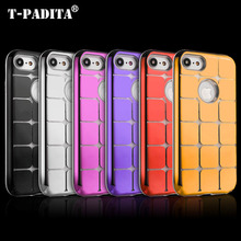 T-PADITA Luxury Case Cover For iPhone X 6S 7 8 Plus Square Electroplating PC+TPU Originality Phone Case Back Cover(China)