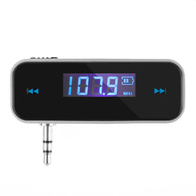 Car Kit Mp3 Player Wireless 3.5mm Car LCD Display Audio FM Transmitter For iPhone 4S 5S 6 6S Plus ipod Touch Samsung Car Styling