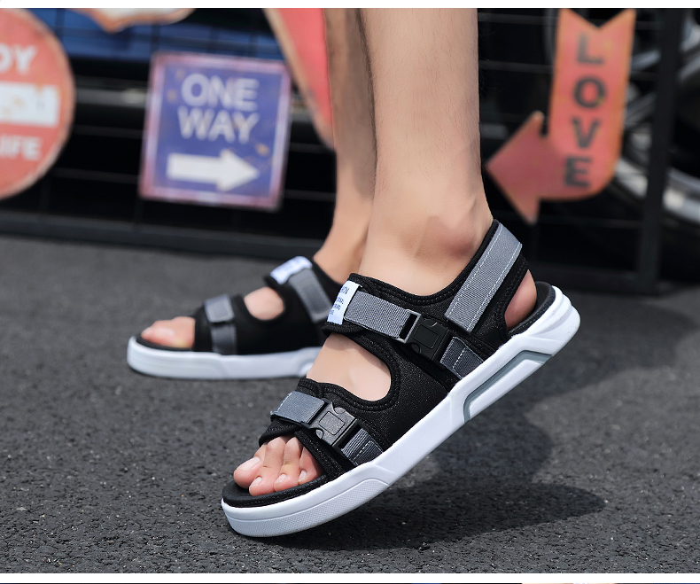 YRRFUOT Summer Big Size Fashion Men's Sandals Outdoor Hot Sale Trend Man Beach Shoes High Quality Non-slip Adult Flats Shoes 46 35 Online shopping Bangladesh