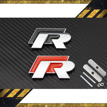 3D Metal R/Rline Car Badge Emblem Car-Styling for VW Beetle CAR DILAIFEI(China)