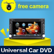100% New universal Car Radio Double 2 din Car DVD Player GPS Navigation In dash Car PC Stereo video+Free Map+Free Camera(China)