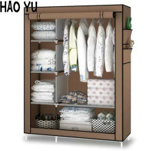When the quarter wardrobe DIY Non-woven fold Portable Storage Cabinet(China)