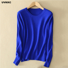 Female Knitwear Knitted Sweater Women Cashmere Pullovers Sweater Winter O Neck Slim Elastic Plus Size Casual Top Solid Sweater(China)